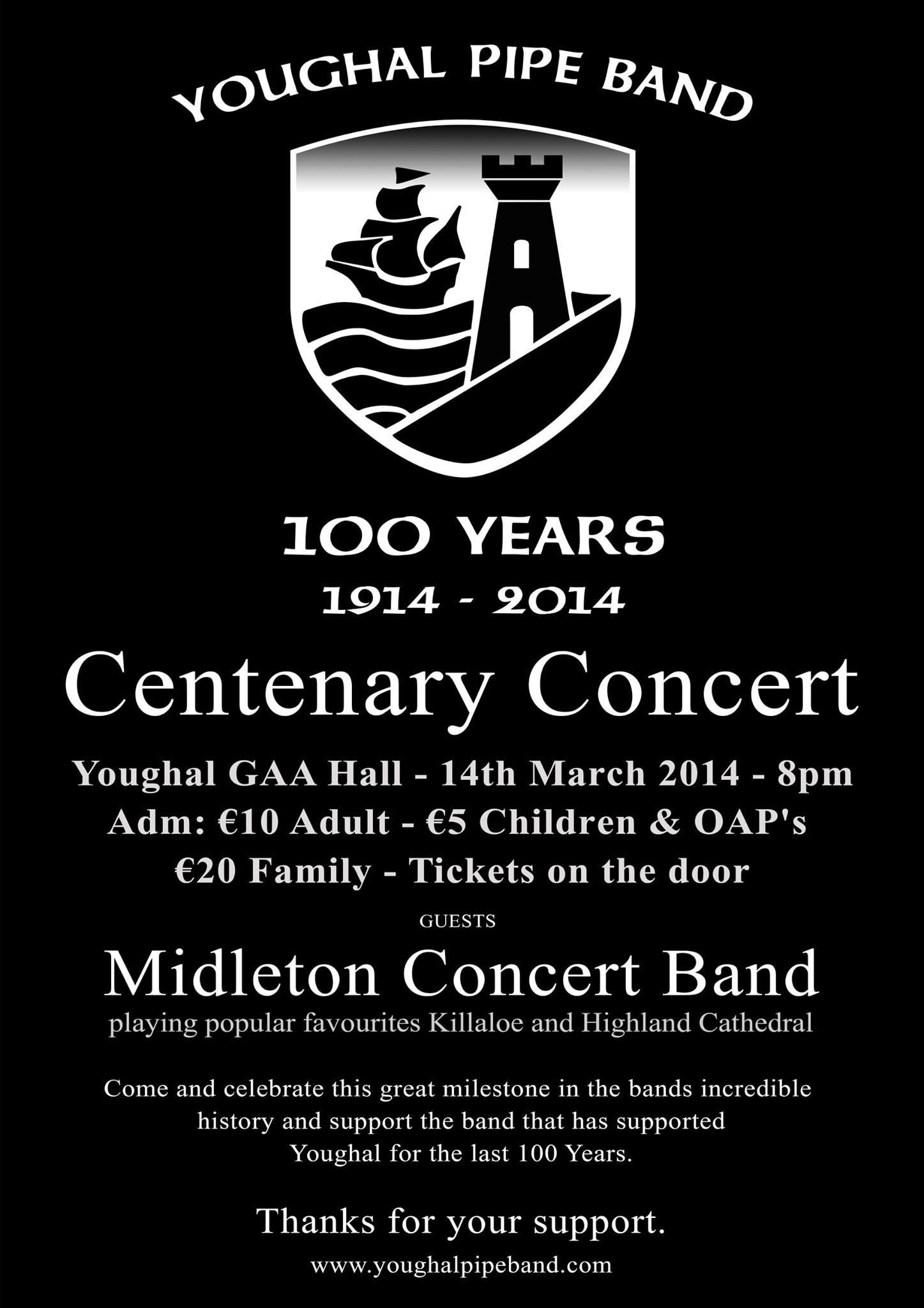 Youghal Pipe Band Centenary Concert