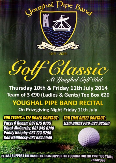 Youghal Pipe Band Golf Classic 2014