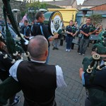 Youghal Pipe Band recital at Berties Bar Youghal - 2014